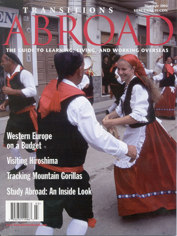 Cover for Transitions Abroad (USA)